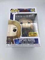 Funko Pop Captain Marvel Jacket Hot Topic Exclusive Carol Denvers # 435 Figure
