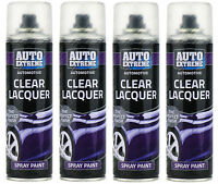 4x Automotive Clear Lacquer Gloss Spray  250ml Paint Aerosol Can Auto Extreme