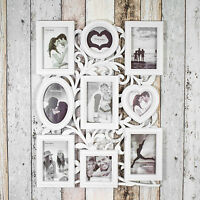 Large 9 Aperture Picture Multi Photo Frame 4x6 4x4 Collage Vintage Shabby Chic