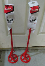 2 x Makita P- 22012 Mixing Paddle m14 thread - Paint & Plaster x 2 off 14mm