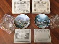 "Thomas Kinkade ""Cedar Nook Cottage"" & ""Chandler's Cottage"" Collectors Plates"