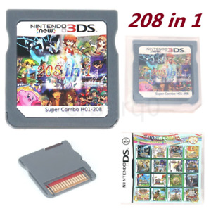 NEW 208 in 1 Games Cartridge Multicart For Nintendo DS NDS NDSL NDSI 3DS US