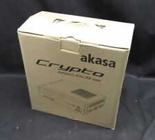 Akasa Crypto Compact mini-ITX Case Brand New In Box & 80W Power Supply Adapter