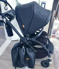 *Bugaboo Bee 5 RARE Custom Faux Leather Hood Canopy & Seat Raincover Bag*