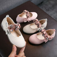 Toddler Infant Kids Baby Girls Floral Leather Dance Princess Shoes Sandals