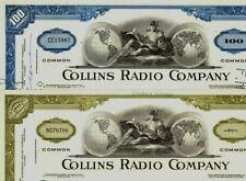 100 Hot Collins Radio Stox! Mfr Ww2 Radios! Deco 60's Gem! 2Nd Color Ships Free