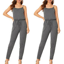 Women Ladies Strappy Jumpsuit Summer Holiday Beach Romper Playsuit Lounge Wear