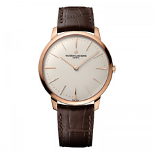 Vacheron Constantine Patrimony 18K Rose Gold Men's Watch Brand New Brown Strap