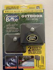 Sensor Brite Outdoor - Motion Sensor LED Flood Light, 2 Pack, As Seen On TV, NEW