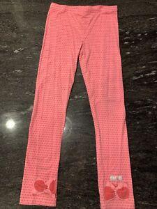 Naartjie Pink Polka Dot Leggings Girls Size 8 Bows