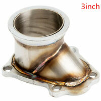 """TD04 5 Bolt Turbo Downpipe Flange to 3"""" 76  V-Band Conversion Adaptor For Subaru"""