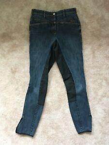 Pikeur Reithose Daphne Jeans Gr. 72 ( 36 lang ) blau Jeansreithose Vollbesatz