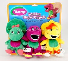 NEW Universal Studios Barney & Friends 3-Piece Walking Finger Puppets
