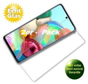 2x Samsung Galaxy A71 Schutzglas 9H Panzerfolie Echtglas Displayschutz Glas