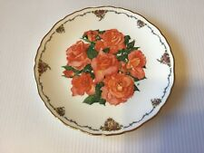"""More details for 8"""" royal albert elizabeth of glamis queen mother's favourite flower plate"""