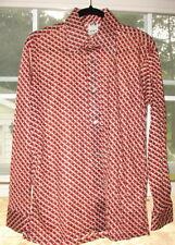 Vintage New York Andy Fashion Semi Sheer 1970's Button Dress Shirt Long Sleeve L