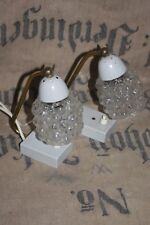 2x 50er Lampe brass rockabilly mid century bedside lamp  60s messing bubble glas