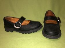 Slate Black John Fluevog Buckle Strap Seventh Heaven Angels 10.5