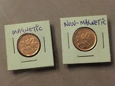 New 2012 Canadian Non-Magnetic & Magnetic Brilliant UNC Penny