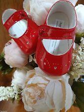 Baypods Baby Girls CREAM Patent Mary Janes Pram Shoe Christening 0-1-2//0-3-6-12m