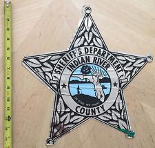 FLORIDA SHERIFF'S DEPARTMENT COP CAR DOOR DECAL INDIAN RIVER COUNTY SHERIFF FL