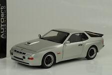 1980 Porsche 924 carrera gt Diamond Silver plata 1:18 Autoart