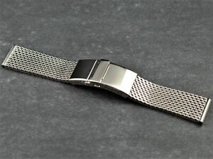 STAIB made in Germany mesh steel bracelet (Milanaise) 22 mm extra thick 4.9 mm