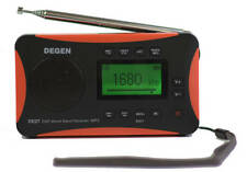 Degen DE27 3-in-1 Digital Portable AM/FM Shortwave Radio with MP3 Player