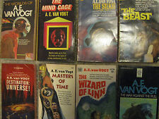 8 A E VAN VOGT Books - Classic Science Fiction