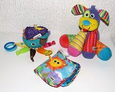 LOT 3 jouets éveil LAMAZE la pieuvre + le chien musical + livre des découvertes