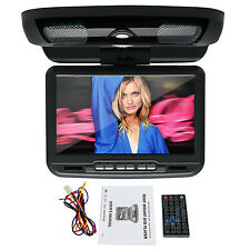 9'' Overhead Flip Down Car DVD Player Game TV Monitor Roof Mount black color