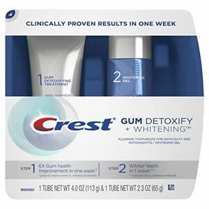 Crest Gum Detoxify + Whitening 2 Step Toothpaste