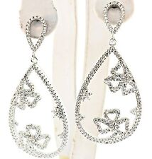 Designer  chandelier earrings with cubic zirconium set in sterling silver
