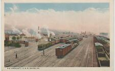 Early 1900's Big Yards of Lehigh Valley Railroad, Sayre, PA Postcard