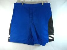 Adidas Shorts 100% Nylon Blue Black White Size XL