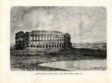 Stampa antica POLA PULA veduta dell' anfiteatro Croazia 1890 Old print