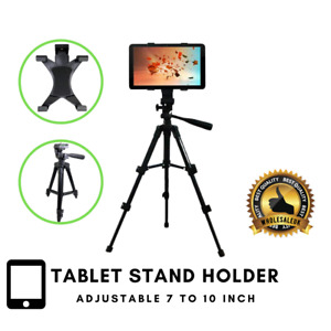 "iPad Stand For 7-10"" Tablet Adjustable Floor Mount Tripod Holder Samsung Huawei"