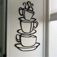Removable Home Kitchen Decor Coffee House Cup Decals Vinyl Wall Sticker DIY New