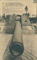 Postcard WW1 Artillery piece at moere unposted