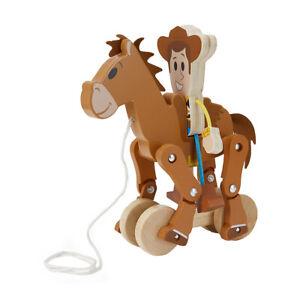 Disney Pixar Toy Story Woody & Bullseye Pull Along Toy For Kids Christmas Gift