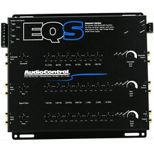 AUDIO CONTROL EQS 6-CHANNEL DUAL-BANDWIDTH EQUALIZER w/ BUILT-IN LINE DRIVER