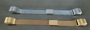 2 Milanese Mesh FITBIT Wristbands - 1 Silver, 1 Gold Fully Adjustable Magnetic