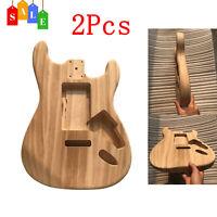 For ST Guitar Unfinished DIY Electric Guitar Barrel Body Polish Maple Wood N1W1