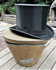 Zylinder Hut Chapeau Claque Klappzylinder Gr. 56 mit Hutschachtel Seiffert Duisb