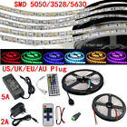 5M 300 LED Strip Light SMD 3528 5050 5630 RGB/White Flexible+Remote+Power Supply