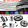 5M 300 LED Strip Light SMD 3528 5050 5630 RGB/White Flexible+Remote+Power Supply