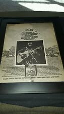 Valdy And The Hometown Band Rare Original Promo Poster Ad Framed!