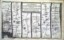 London High Barnet St Albans Towcester antique bande de feuille de route Gardner 1719