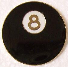 Hat Lapel Pin sports Pool Eight Ball NEW