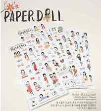 #37 cute paper doll pencil cartoon pvc stickers notebook diary decoration